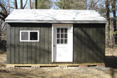 Outbuilding donated by Joseph and Mary Mersereau used to care for rehab birds.